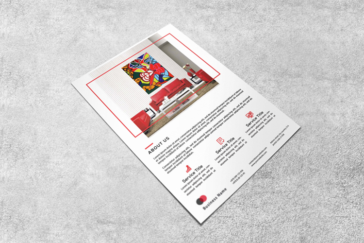Interior design flyer example image 2