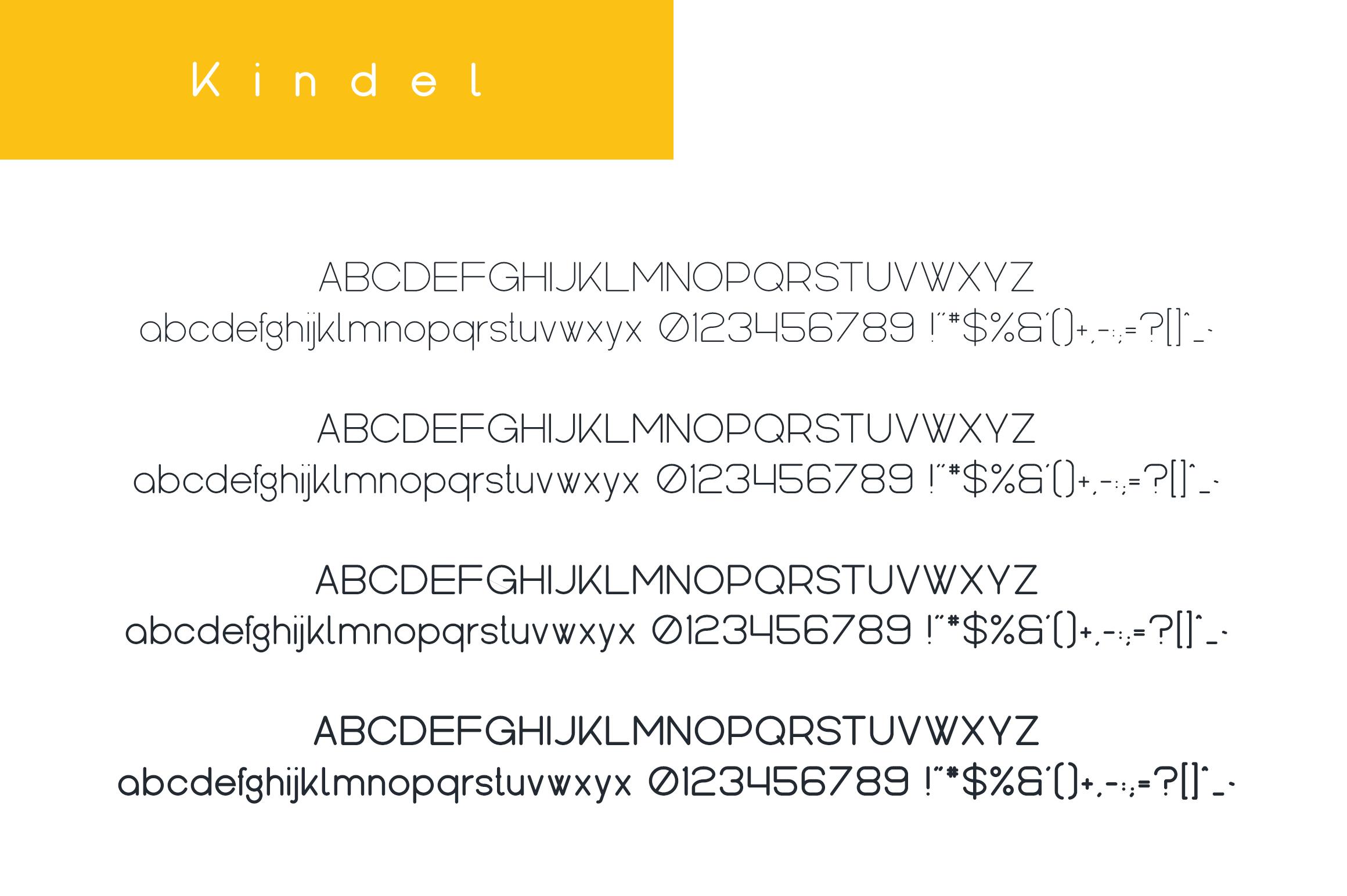 Kindel - Sans Serif Typeface example image 9