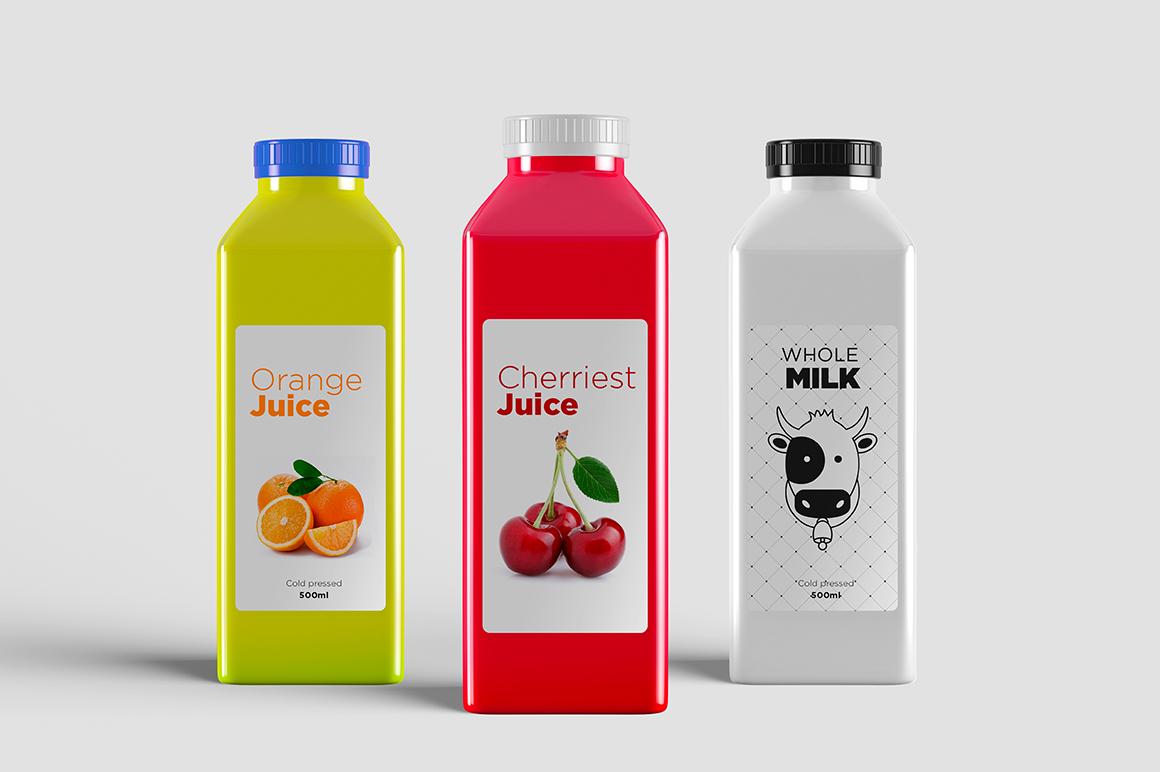 Juice Bottle Mock-Up example image 3