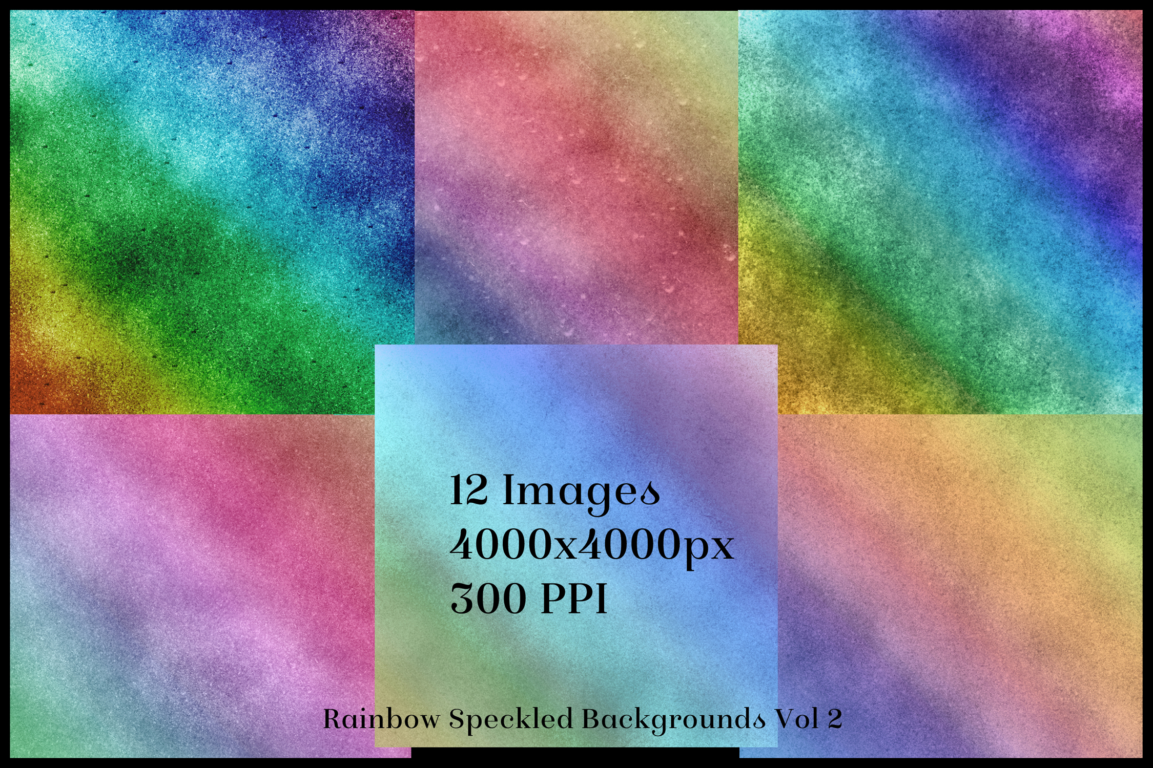Rainbow Speckled Backgrounds Vol 2 - 12 Image Textures Set example image 2