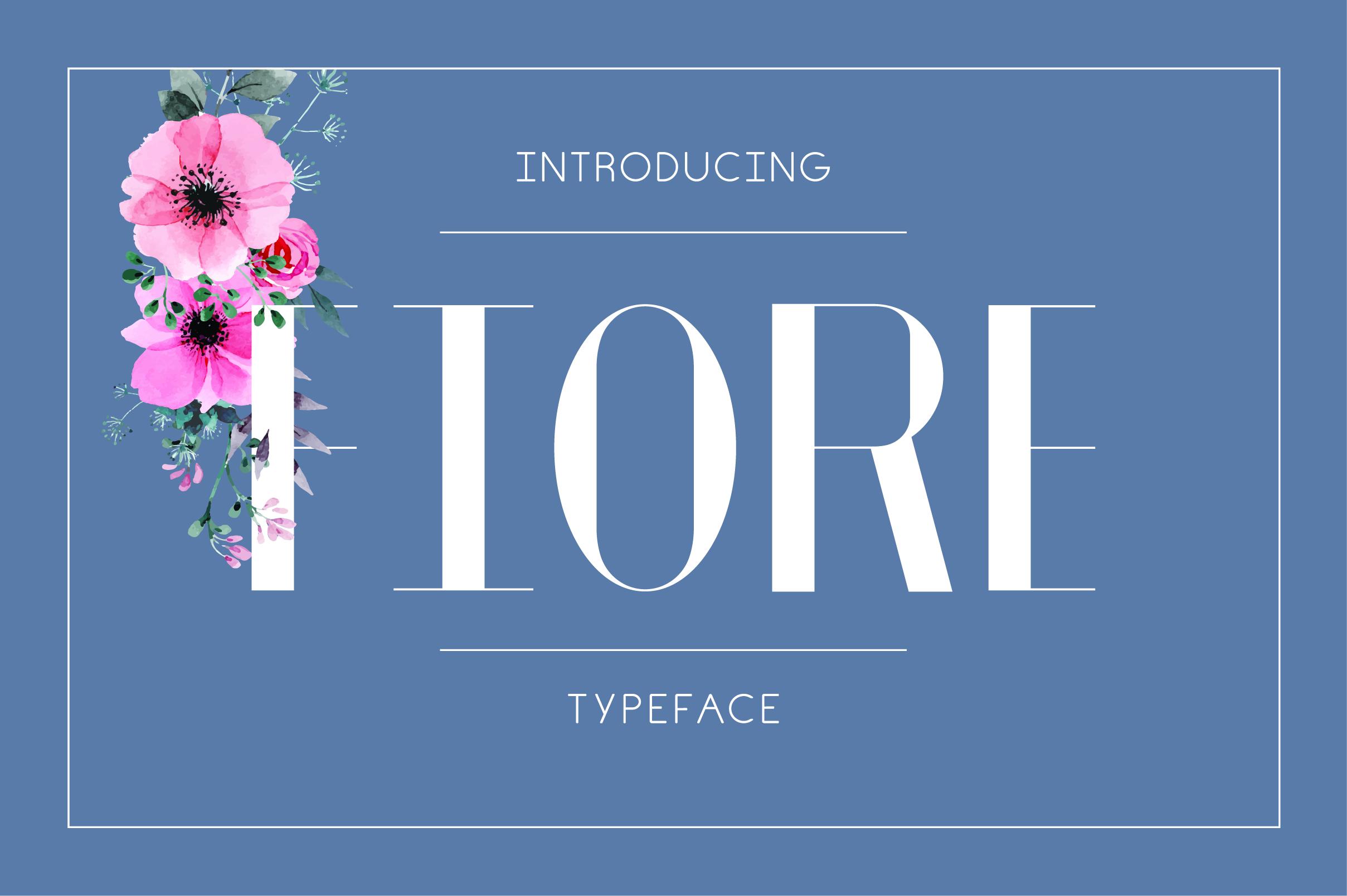 Fiore Typeface example image 1