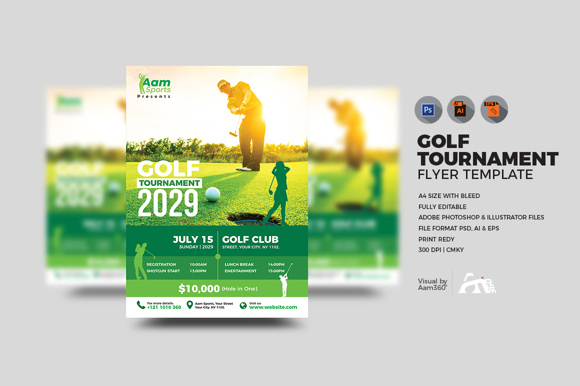 Golf Tournament Flyer example image 1