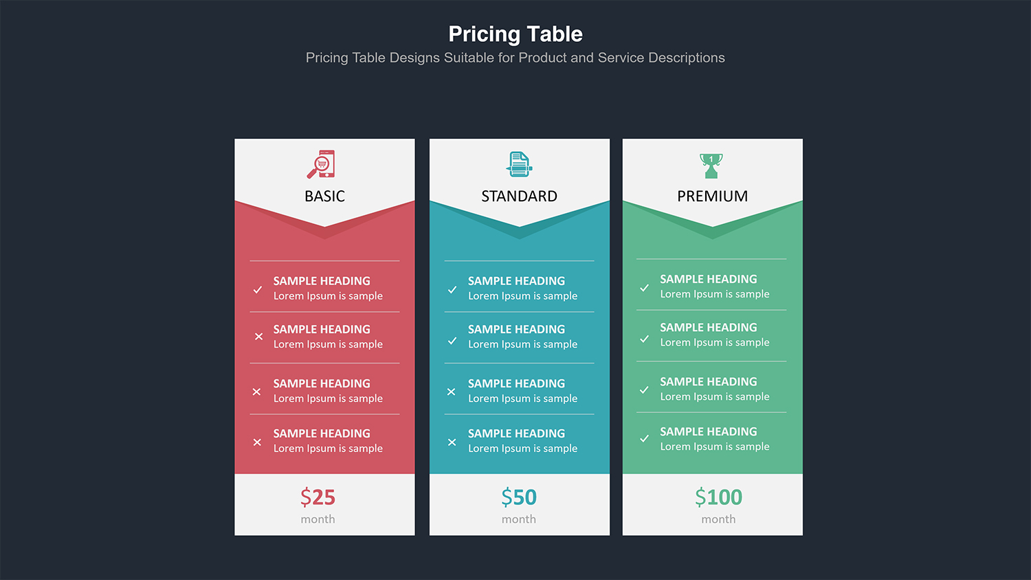 Price Table  Infographic Presentation example image 8