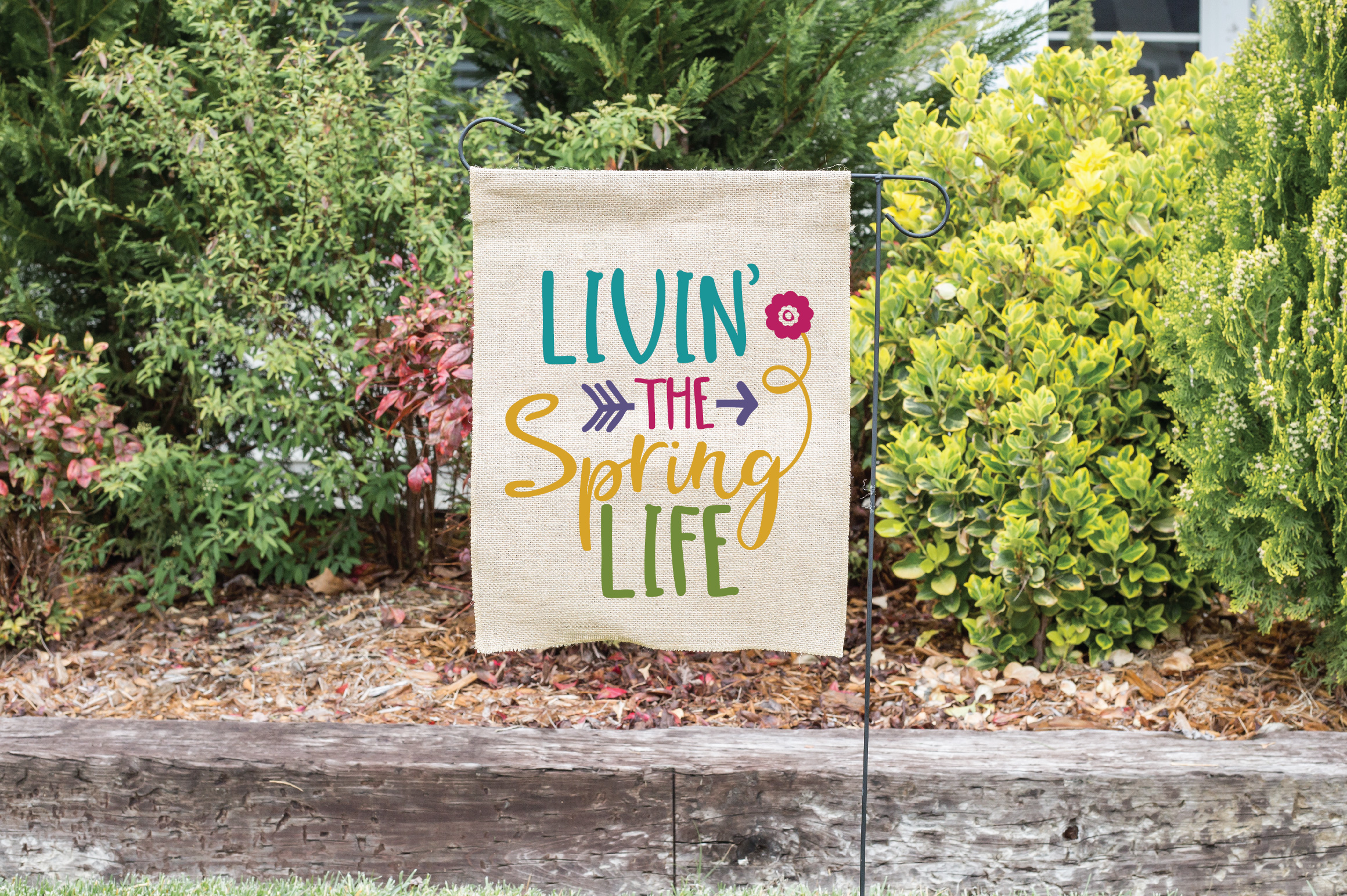 Livin' the Spring Life SVG Cut File - Spring SVG DXF EPS PNG example image 2