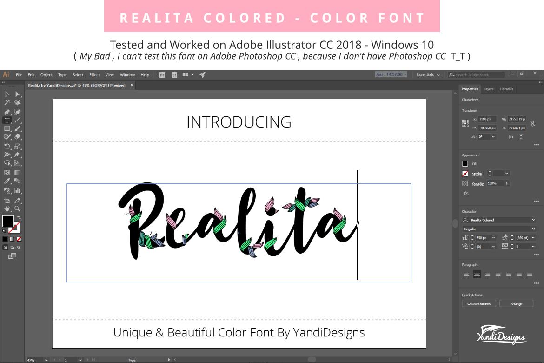 Realita Color Font example image 5