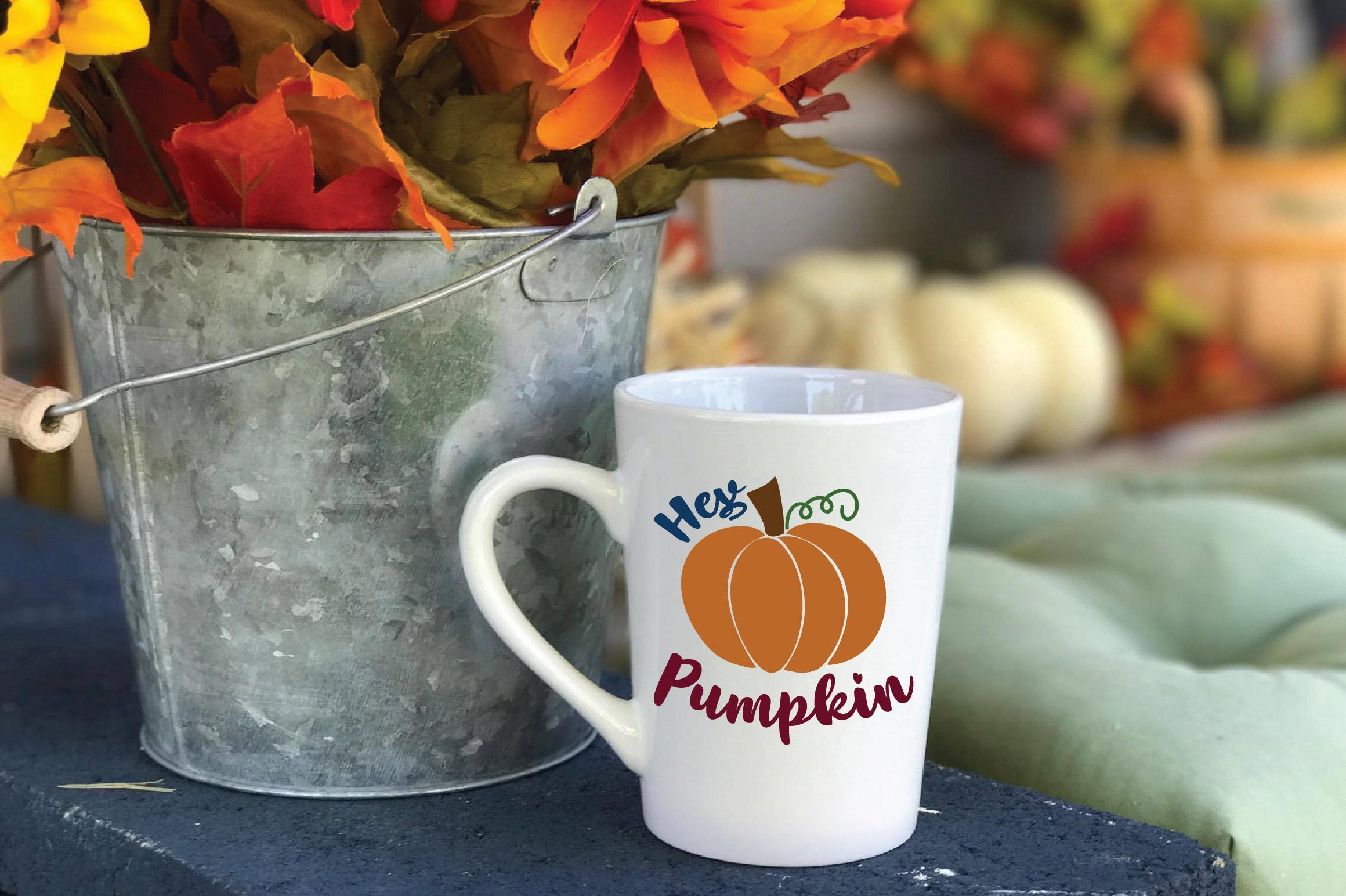 Hey Pumpkin SVG Cut File - Fall Pumpkin SVG example image 5