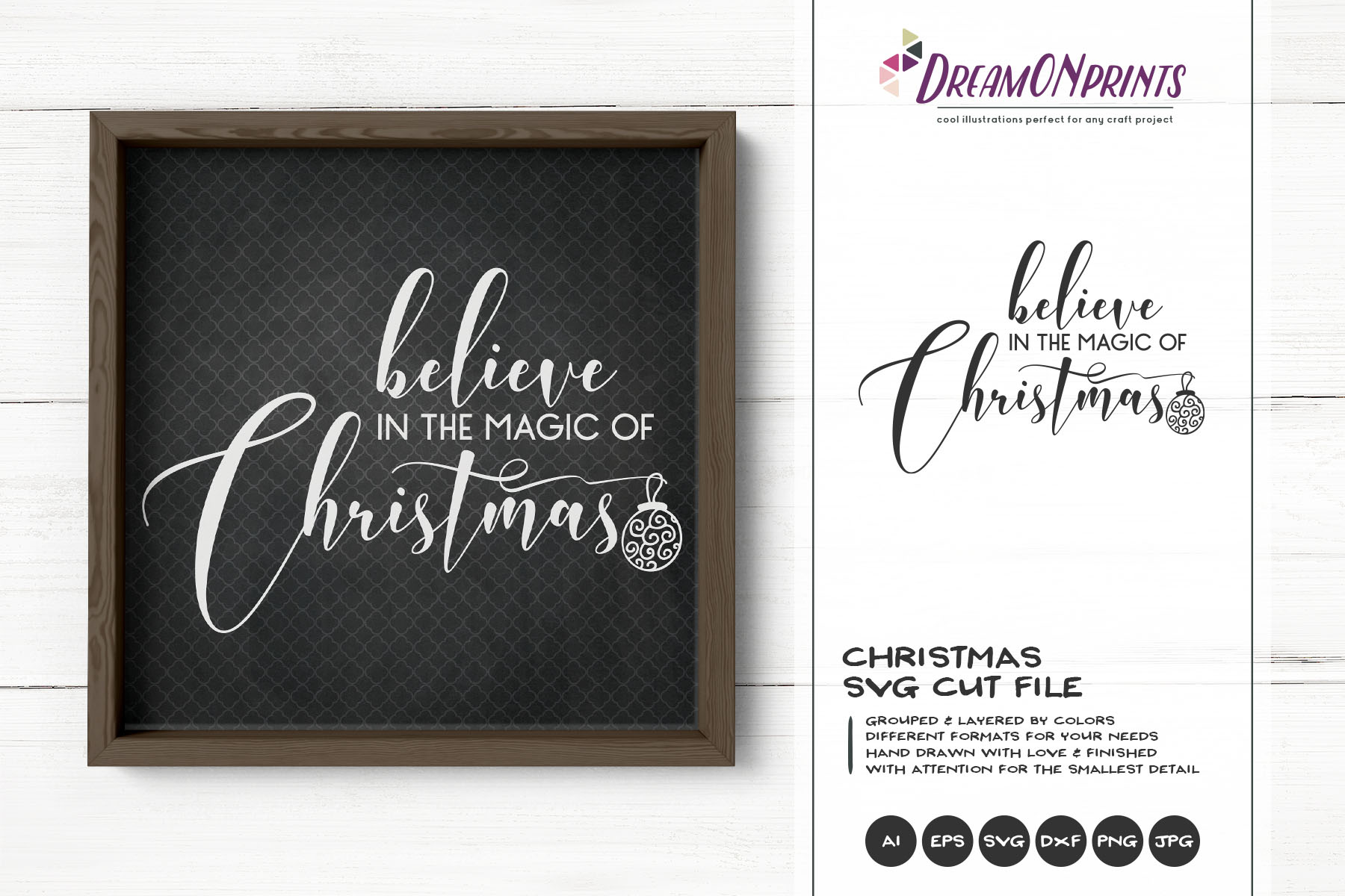 Believe in the Magic of Christmas SVG Cut File example image 1