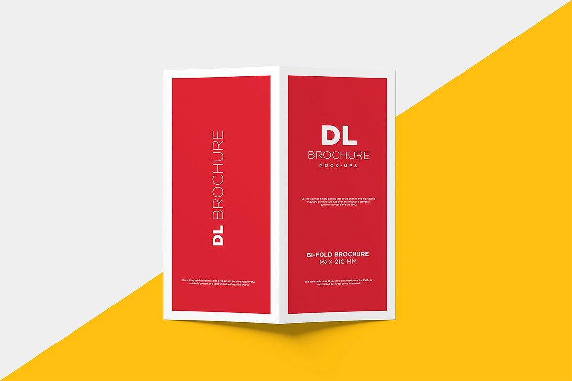DL Bi-fold Brochure Mock-Up example image 11