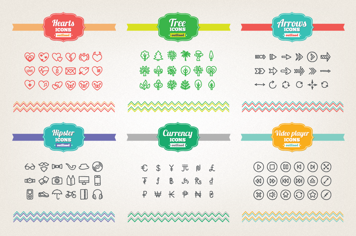 83 Off - Hand Drawn Icons Bundle example image 8