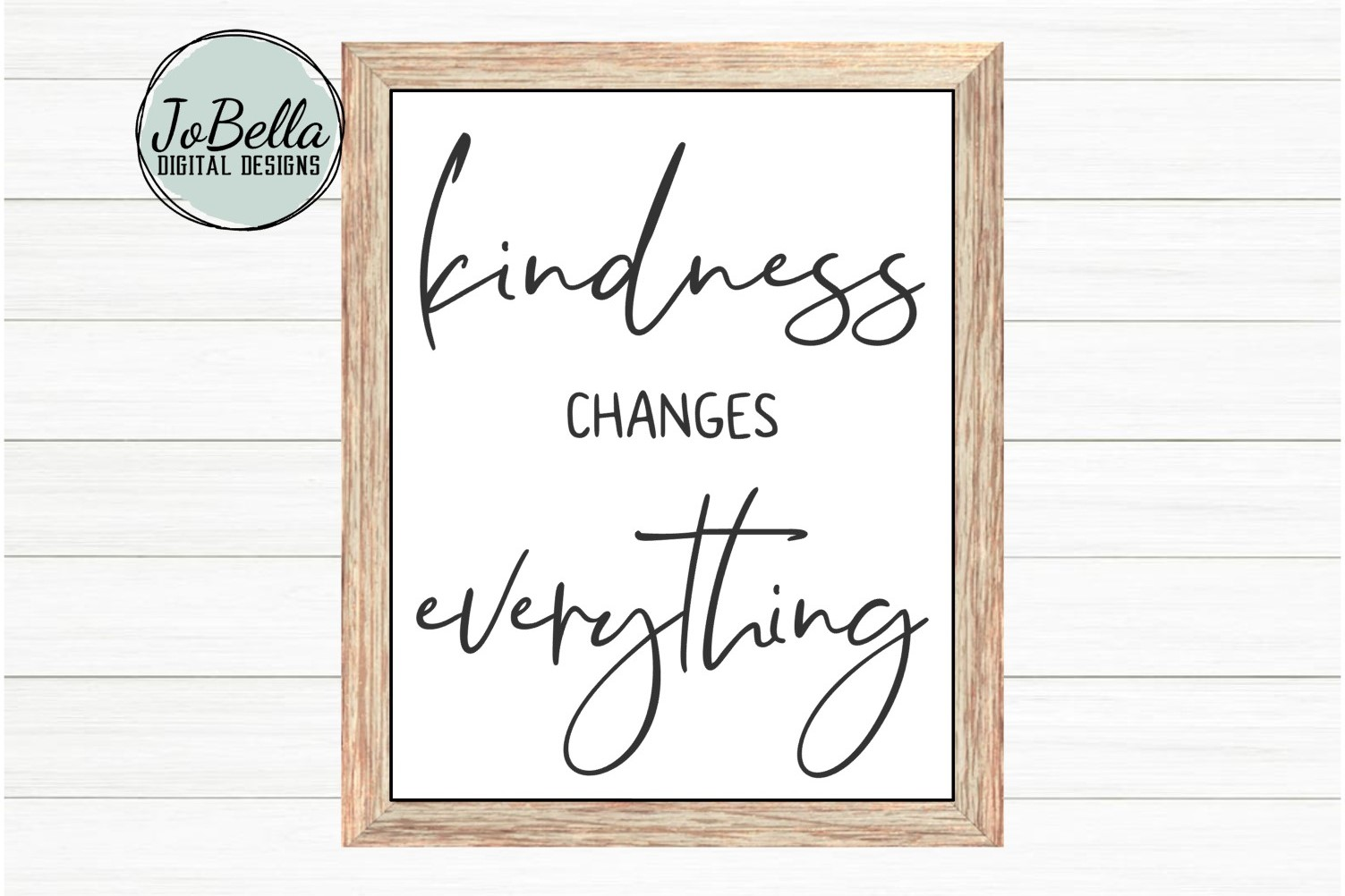 Kindness Changes Everything SVG, Sublimation PNG & Printable example image 1