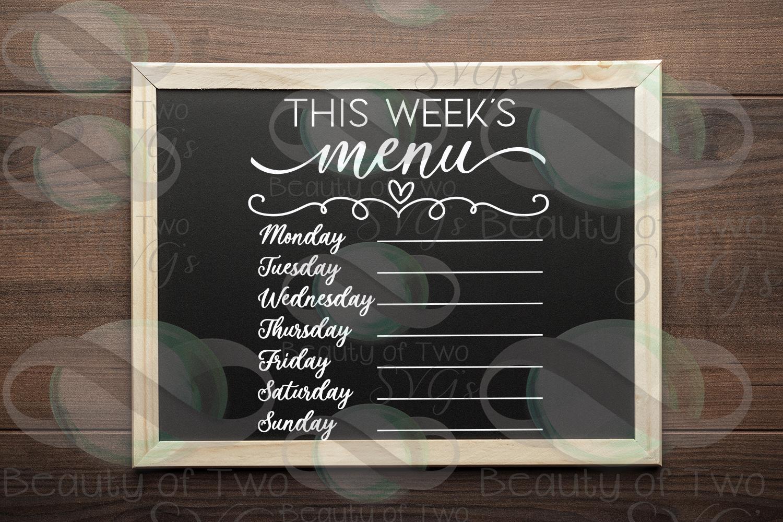 This week's organization svg Bundle, Menu svg, chores svg example image 2