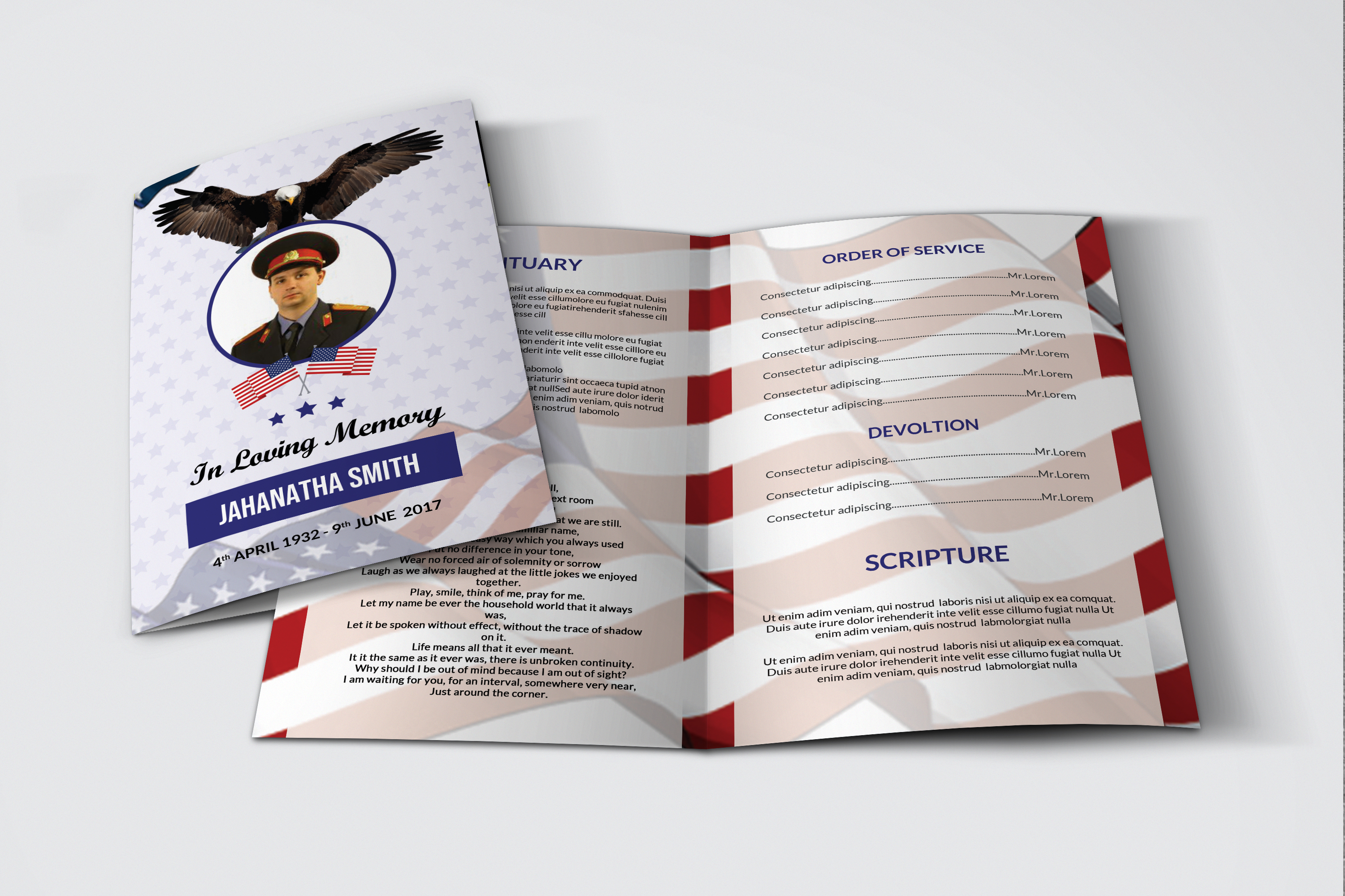 Funeral Program Template Military Army example image 4