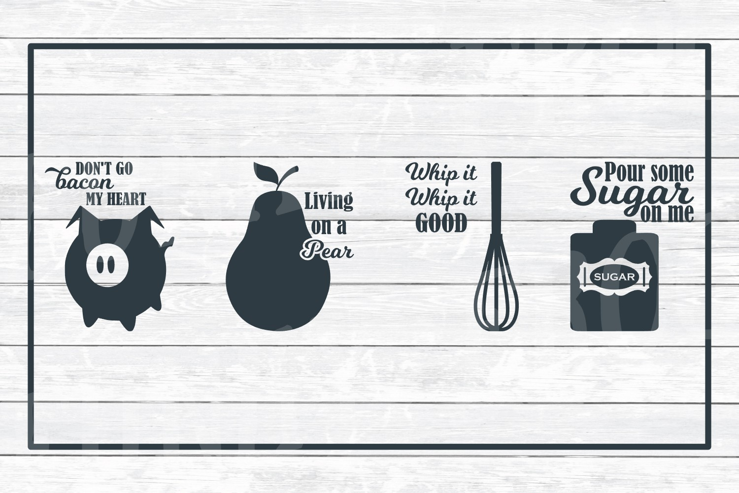 Kitchen Art Design Bundle 4 Music Puns Svg Cut Files