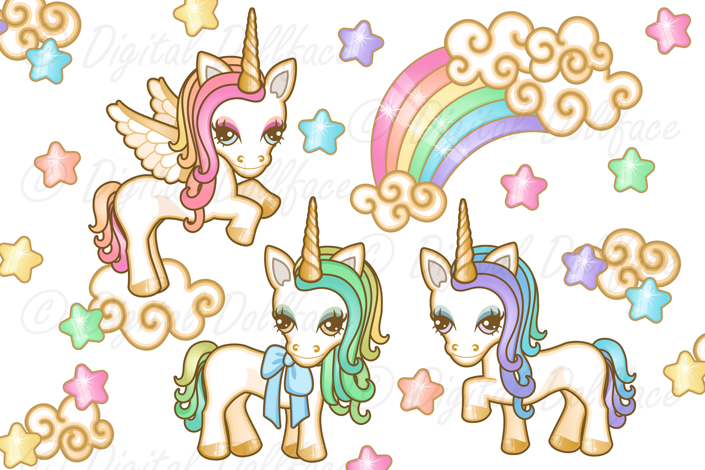 Pastel Unicorn Graphics example image 1