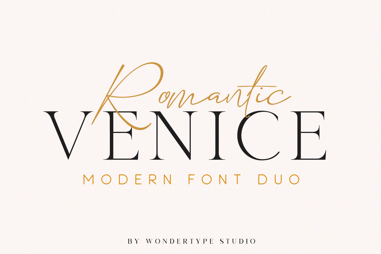 Romantic Venice Font Duo example image 1