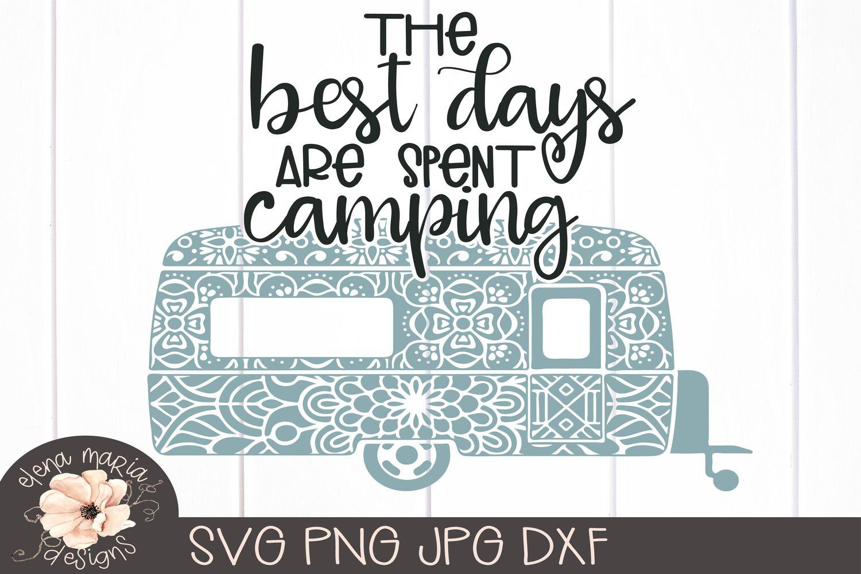 Camping Mandala Svg | RV Camper Trailer Zentangle example image 2