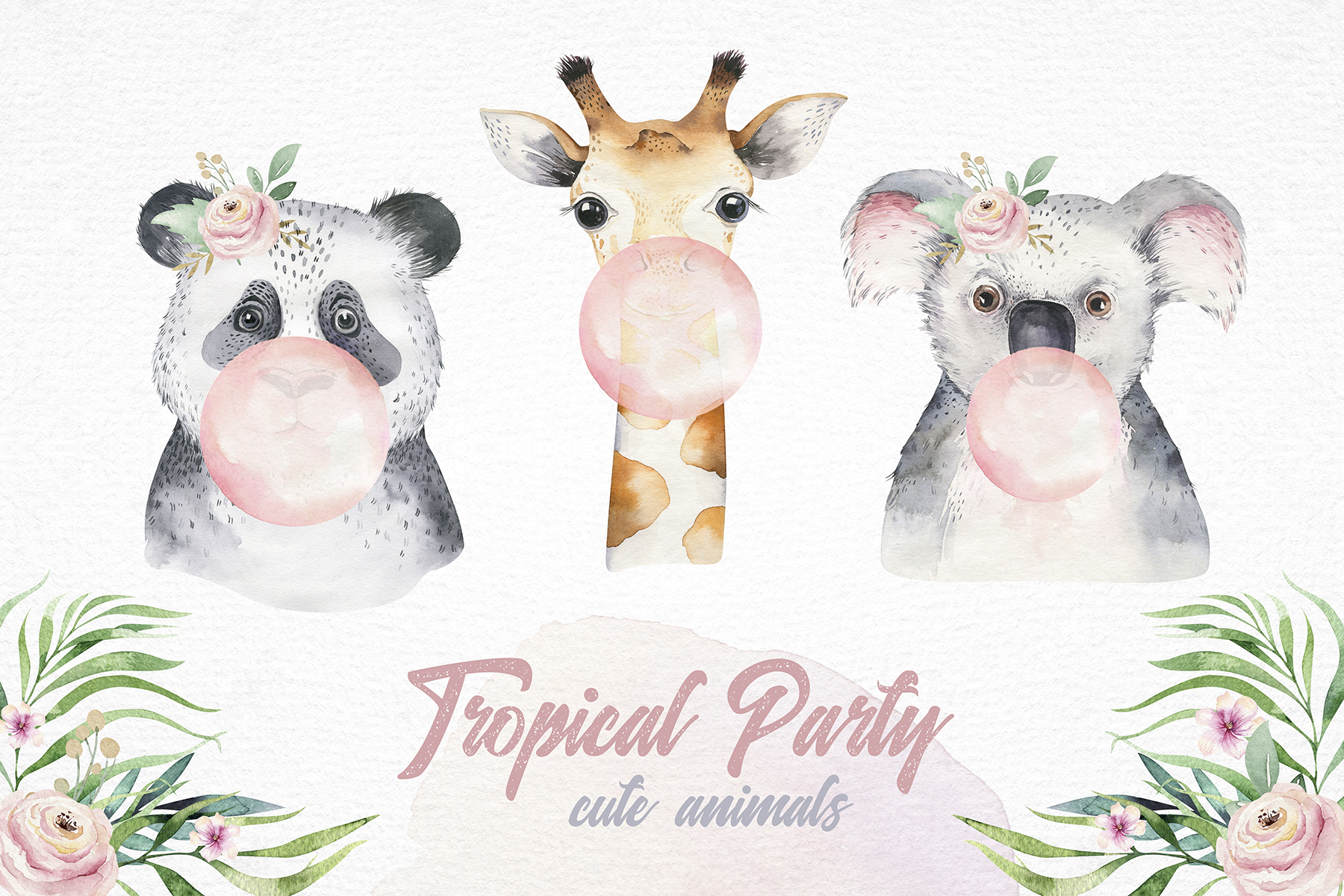 Cute friends II. Tropical party example image 16