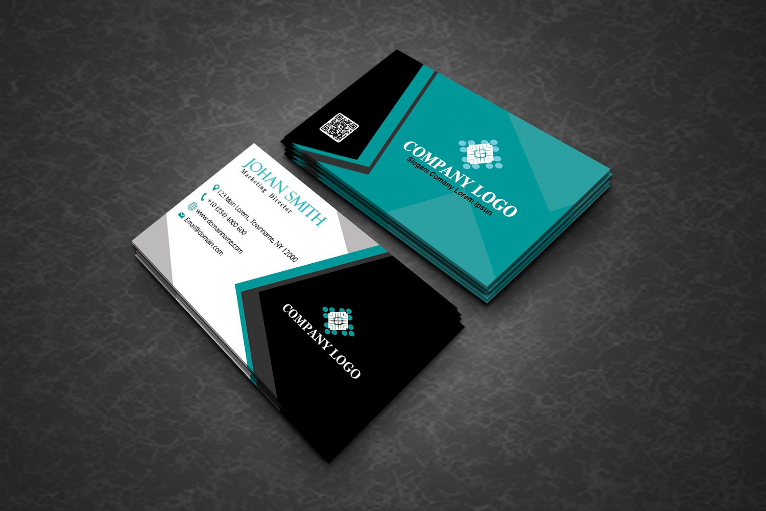 Modern Corporate Business Cards example image 3