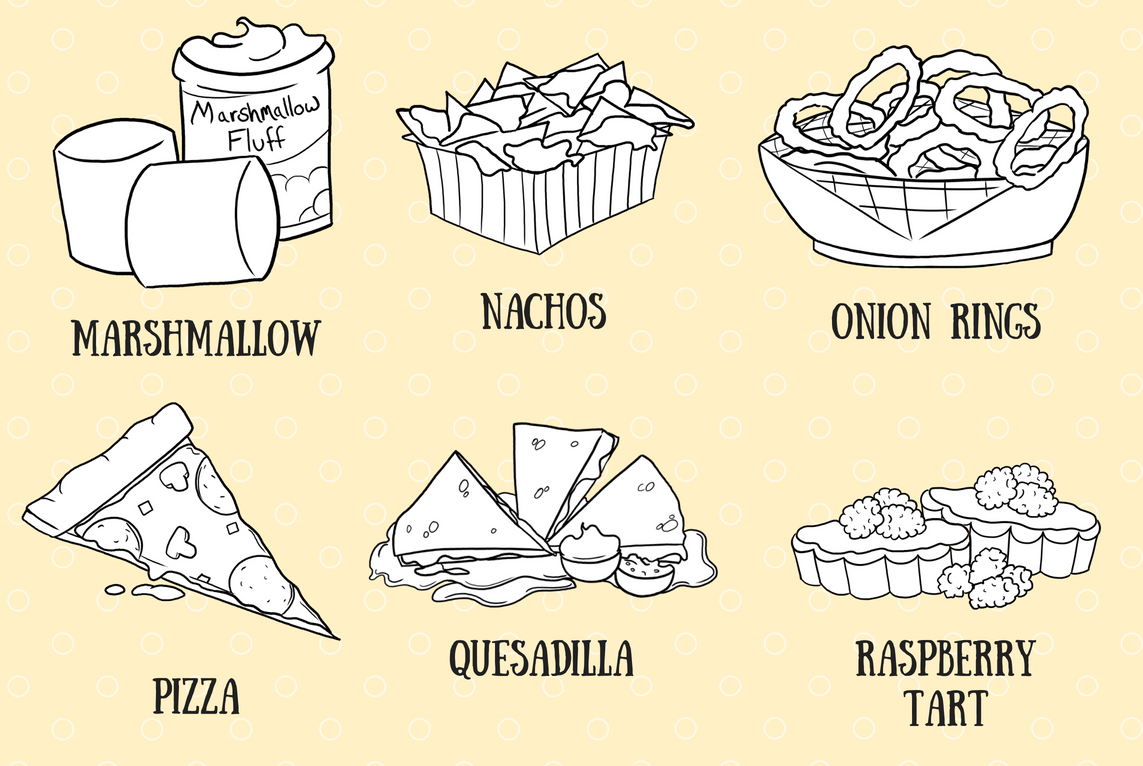 A to Z Fun Foods Digital Stamps example image 4