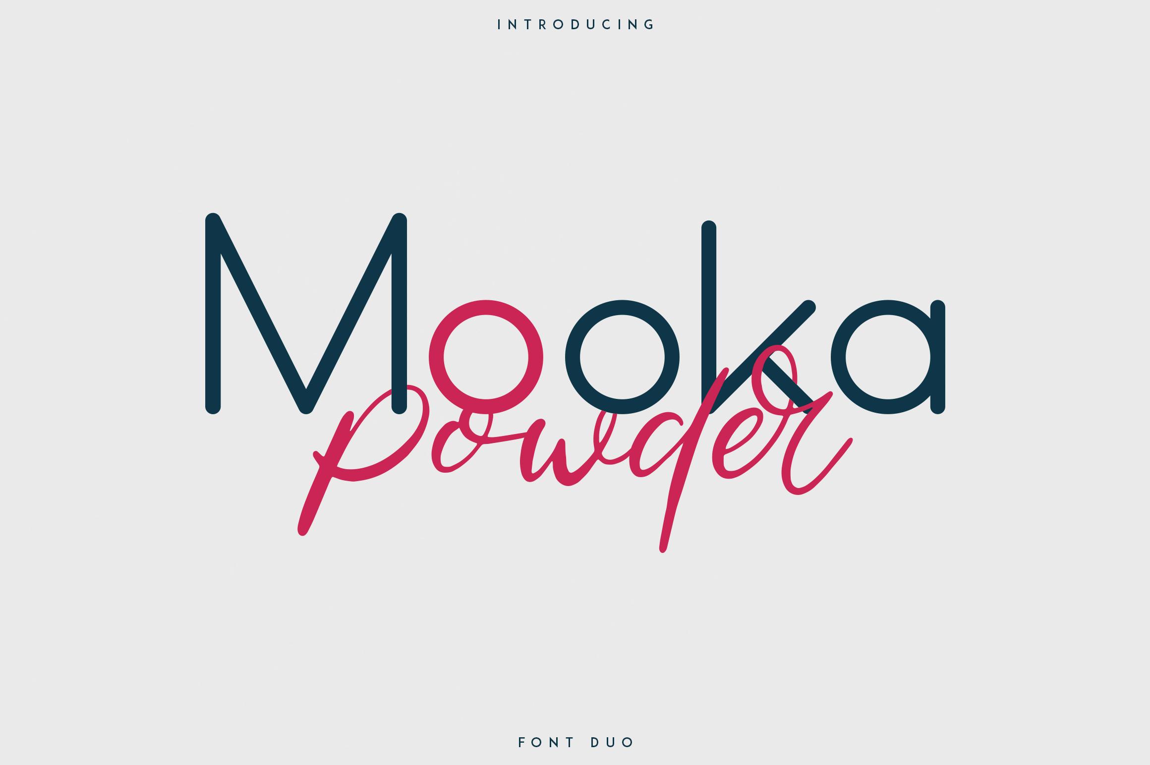 Mooka Powder - font duo example image 1