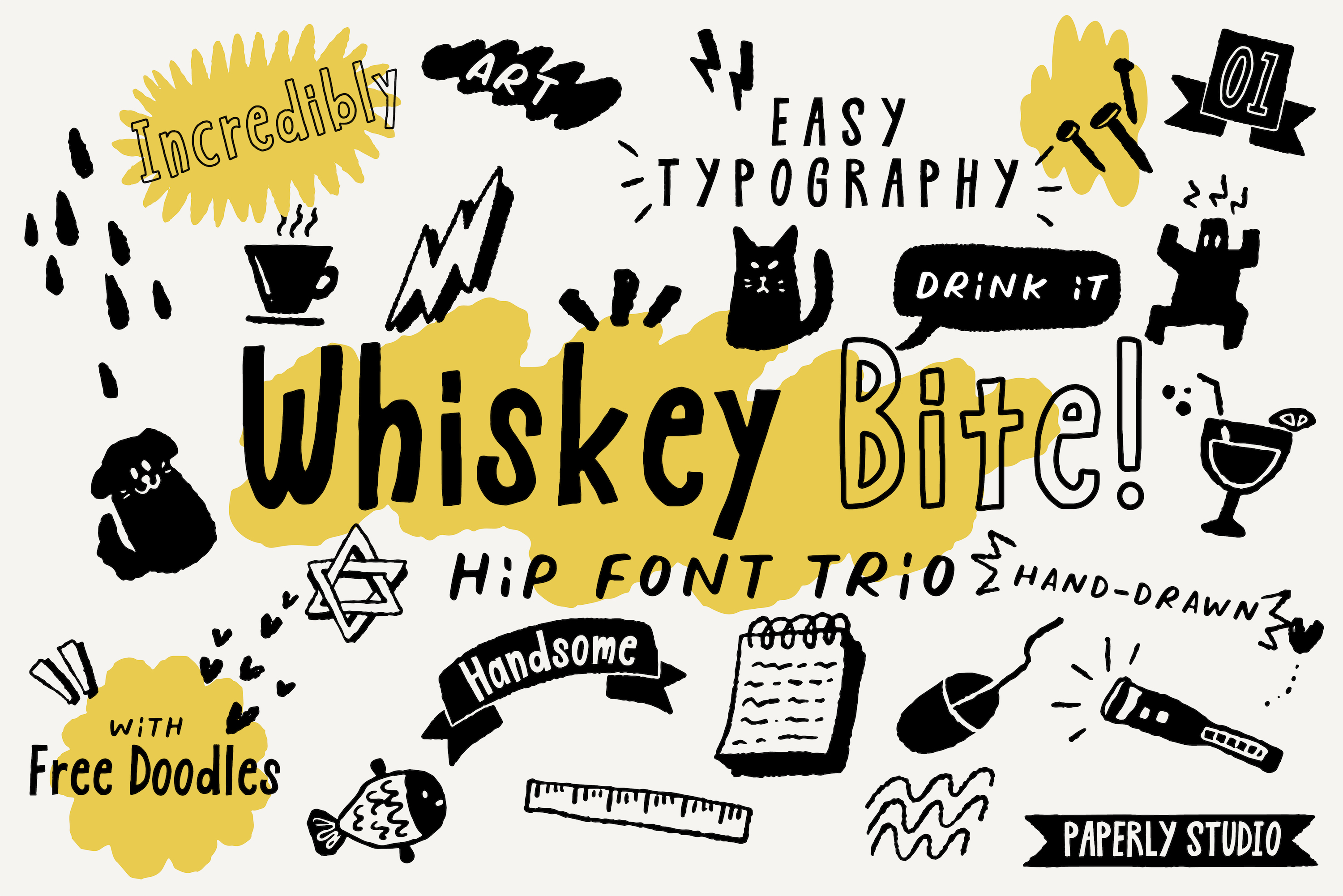 Fun Font Mini Bundle & Extras example image 8