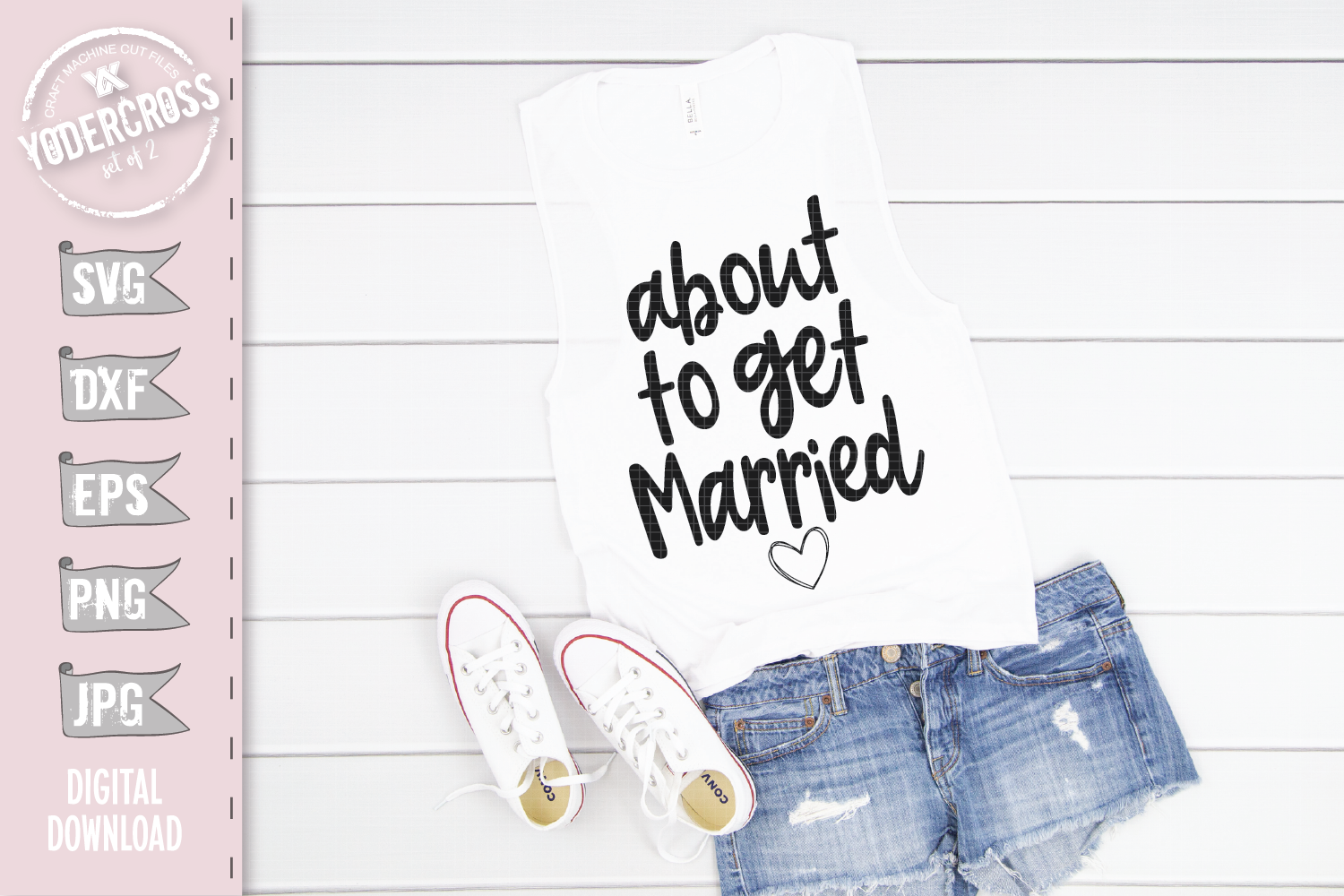 Bachelorette SVG Set, About to Get Married & Drunk example image 2