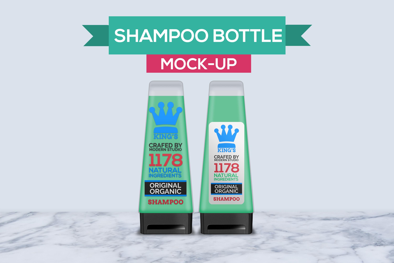 Hair and Body Shampoo Bottle Mock-Up example image 1