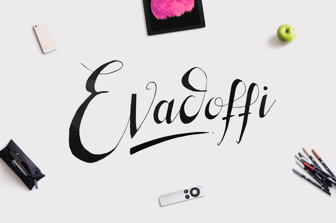 Evadoffi Typeface example image 1