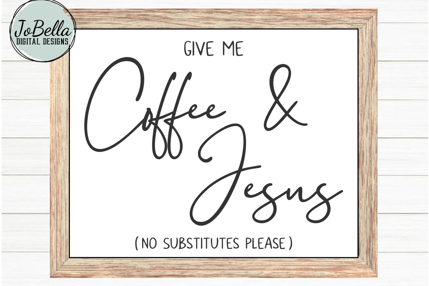 Coffee and Jesus SVG and Printable Christian Design example image 3