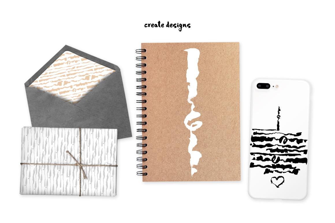 Script Brushes for Illustrator example image 4