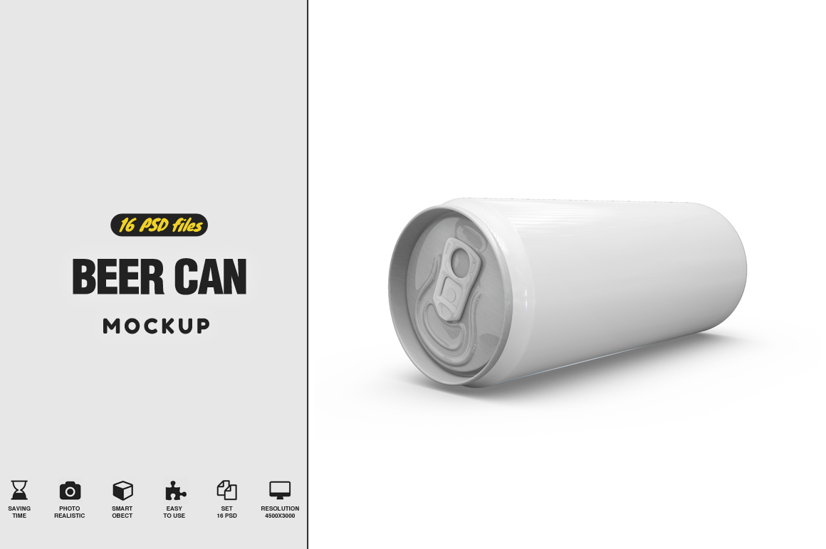 Beer Can Mockup example image 1