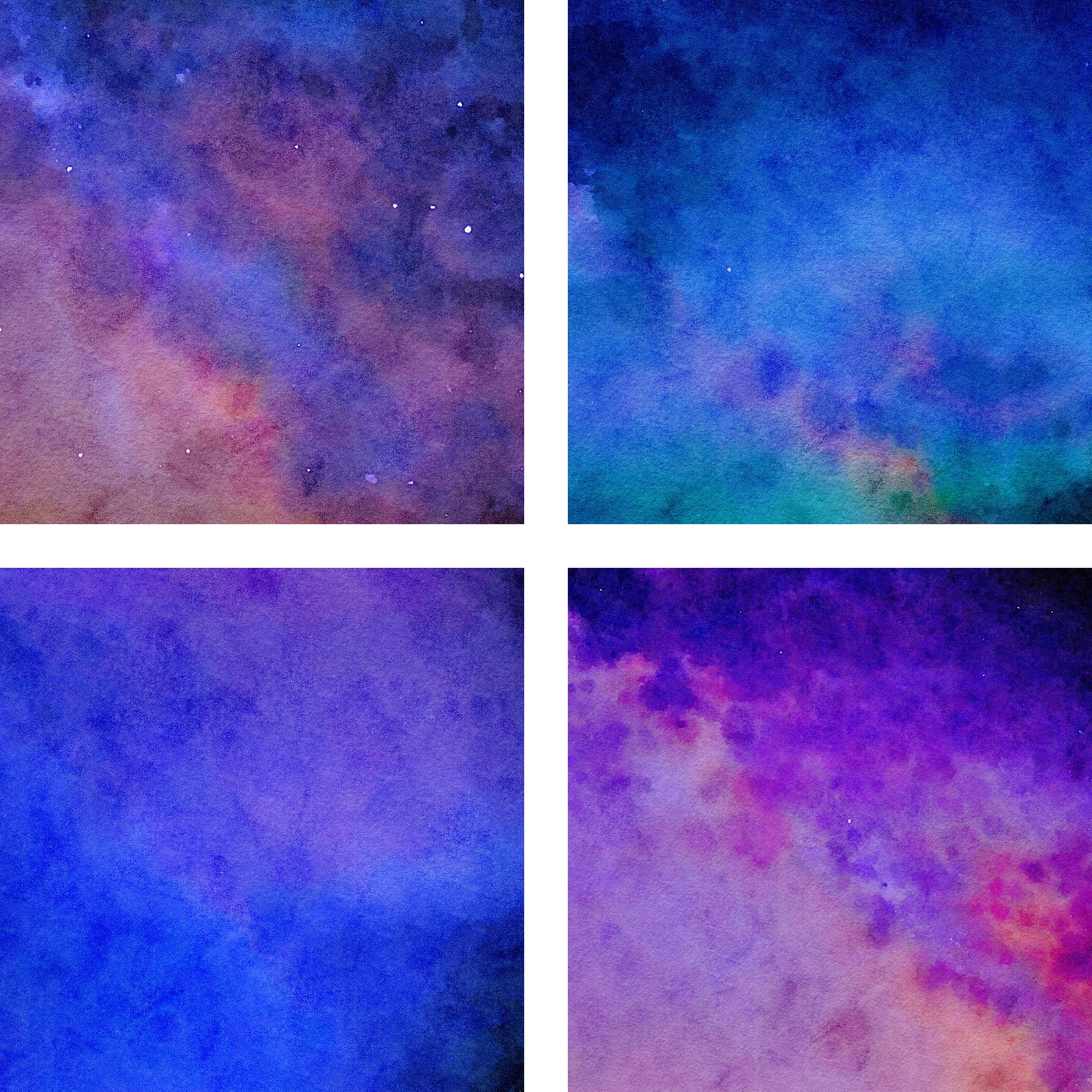 Watercolor Nebula Digital Paper example image 4