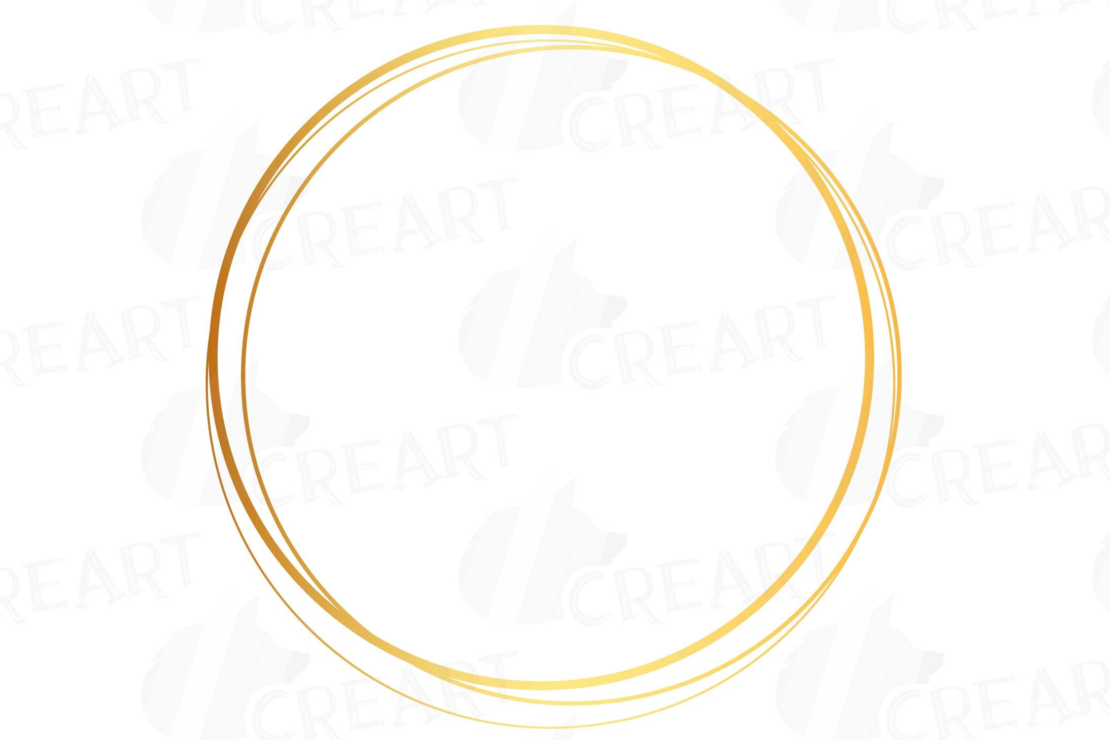 Elegant wedding geometric golden frames, lineal frames png example image 17