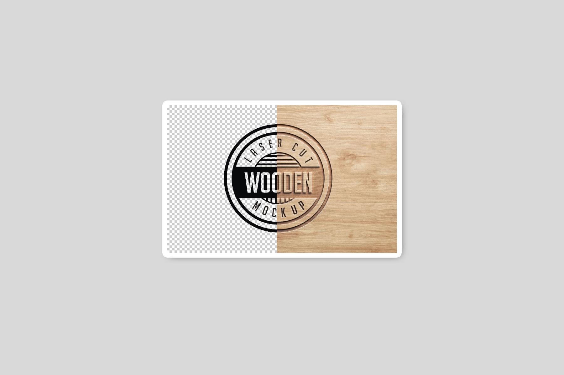 Logo Mock Ups  Wood Set example image 9