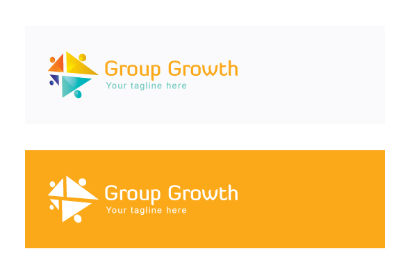 Group Growth - Geometrical Stock Logo Template for Various example image 2
