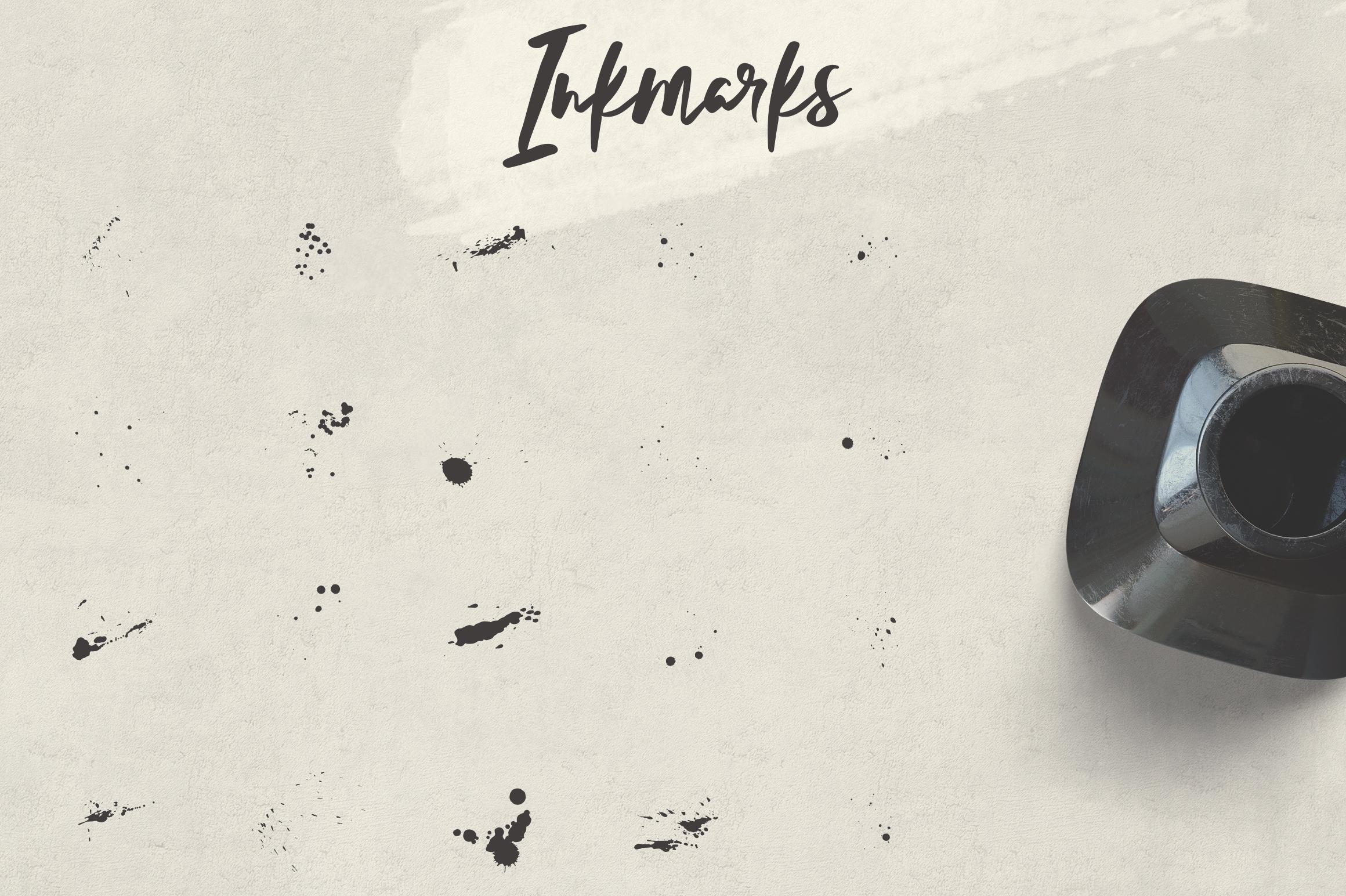 Lelushka Script Ink marks example image 7