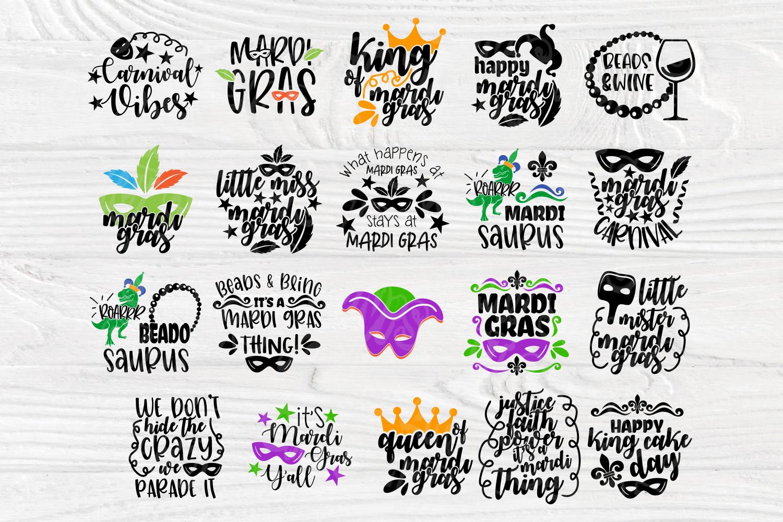 Mardi Gras SVG Bundle | 20 Funny Mardi Gras Quotes example image 2