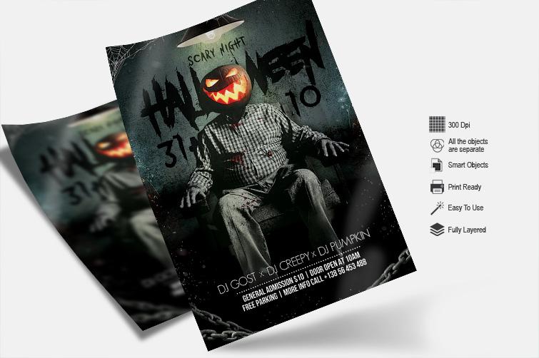 Halloween Night - PSD Flyer Template example image 2