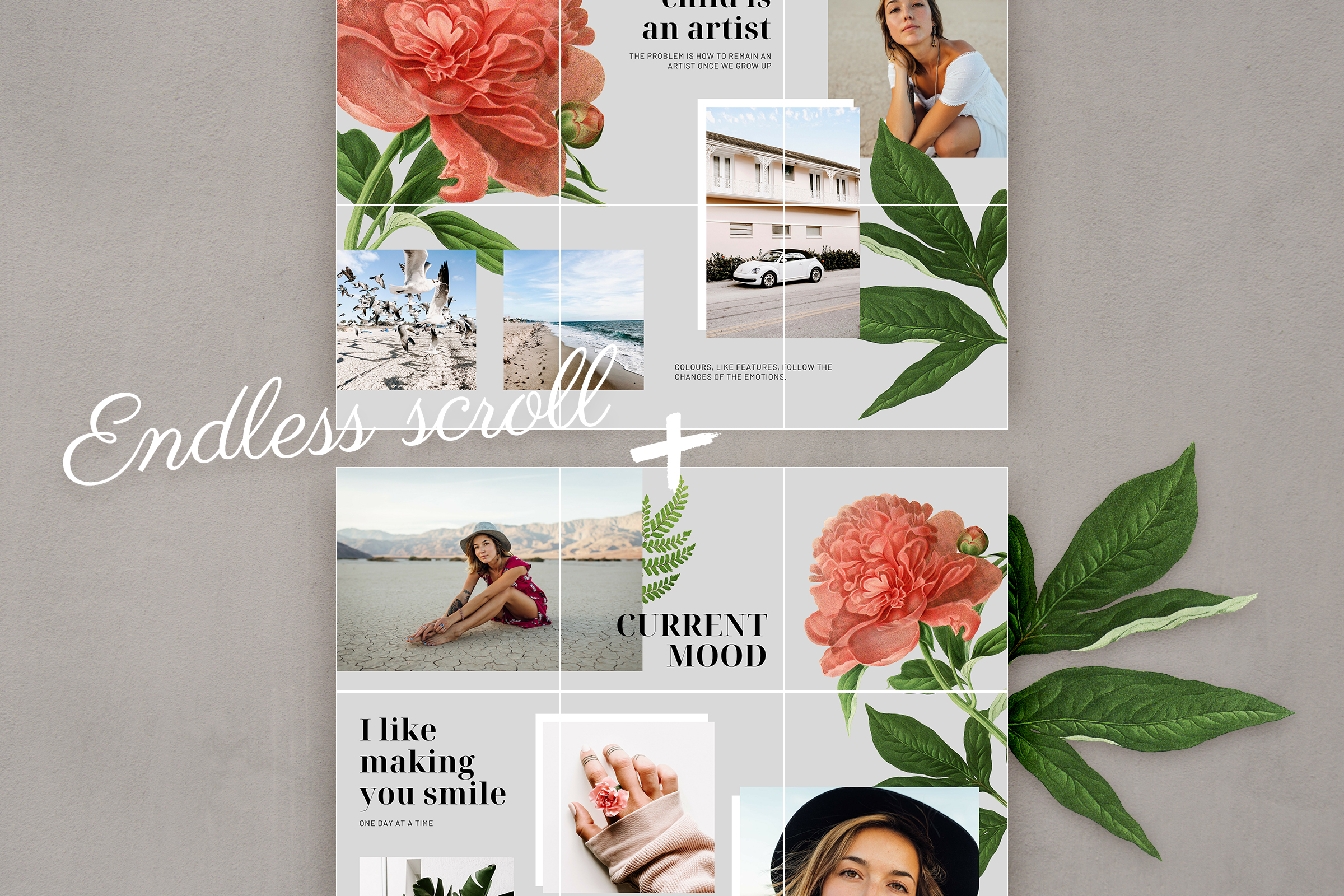 Instagram puzzle template for Canva example image 6