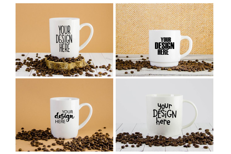 Mug mockup bundle 3, coffee cup, stock photo bundle example image 3