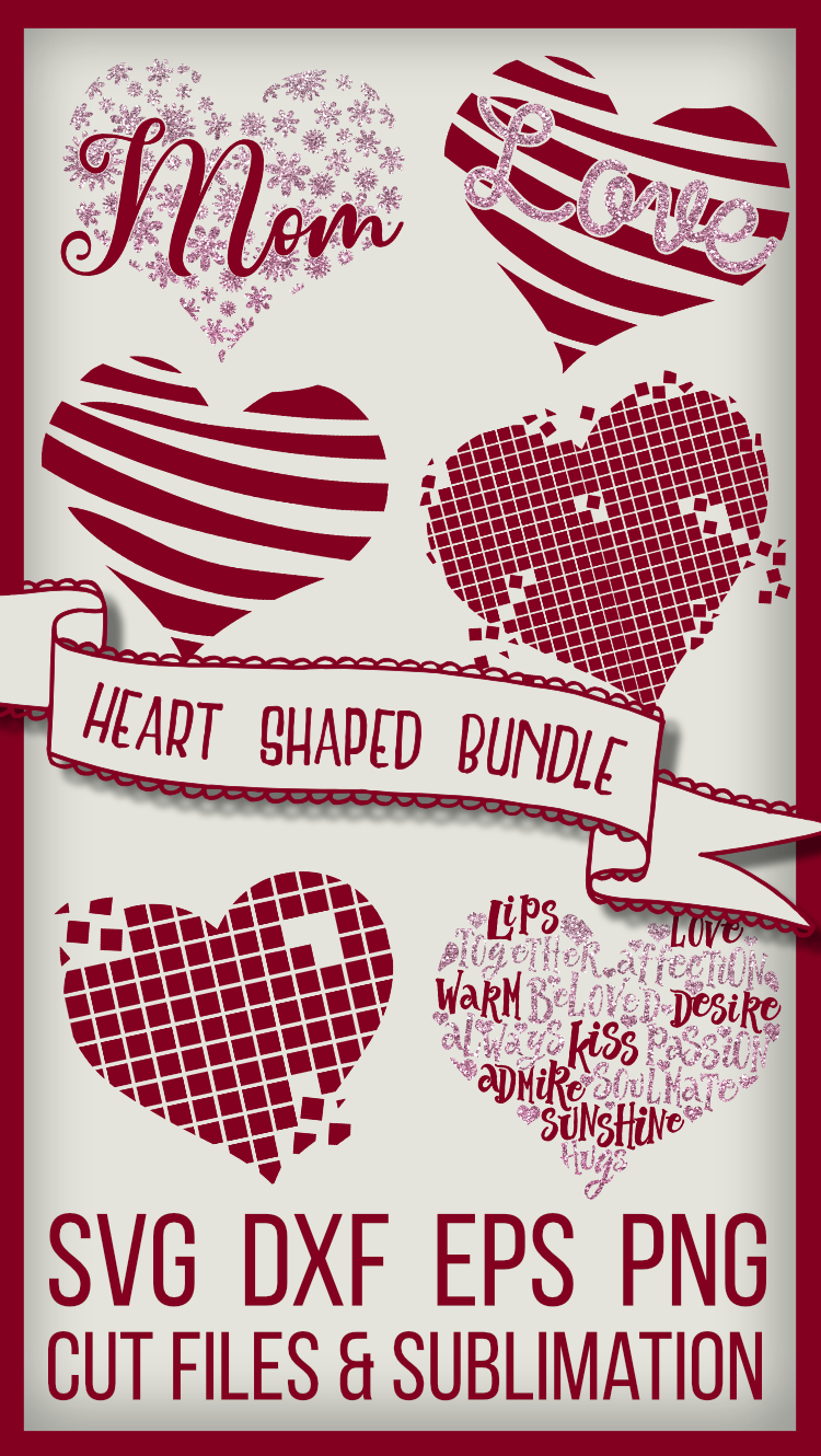 Heart Shaped Bundle | Cut files | Sublimation example image 2
