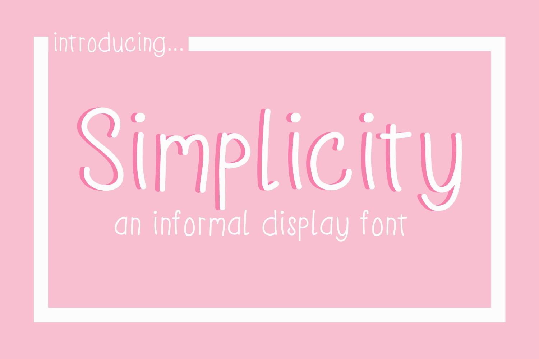 Simplicity an informal display font example image 1