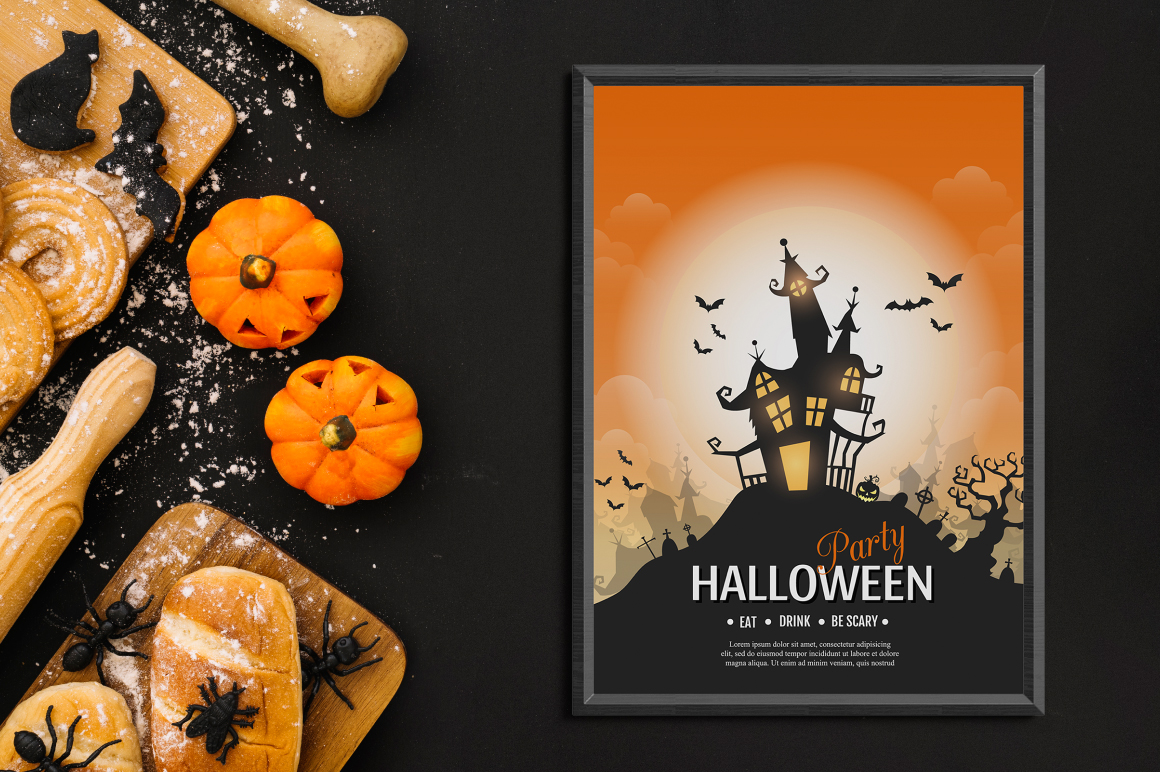 Halloween vector posters example image 6