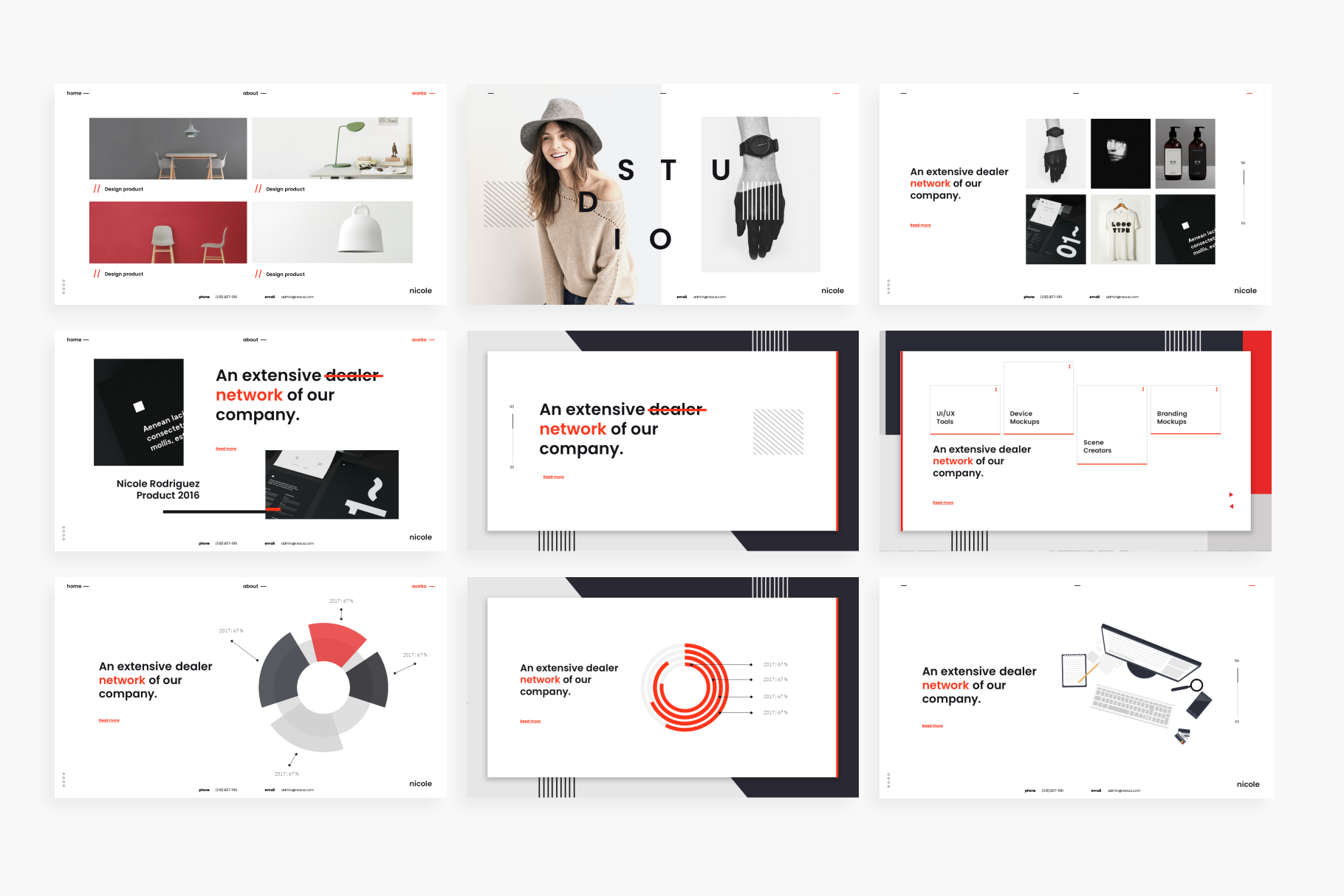 Nicole PowerPoint Template example image 9