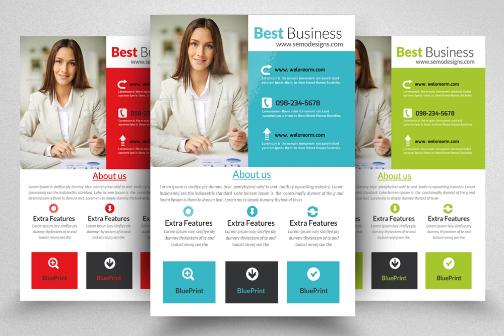 6 Corporate Business Flyers Bundle example image 7