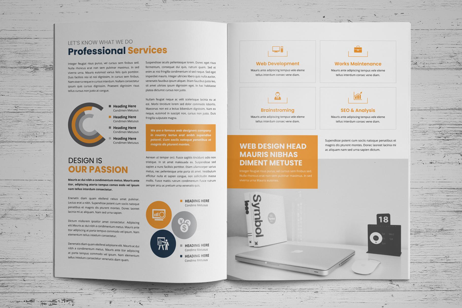 Portfolio Bifold Brochure Design v1 example image 3