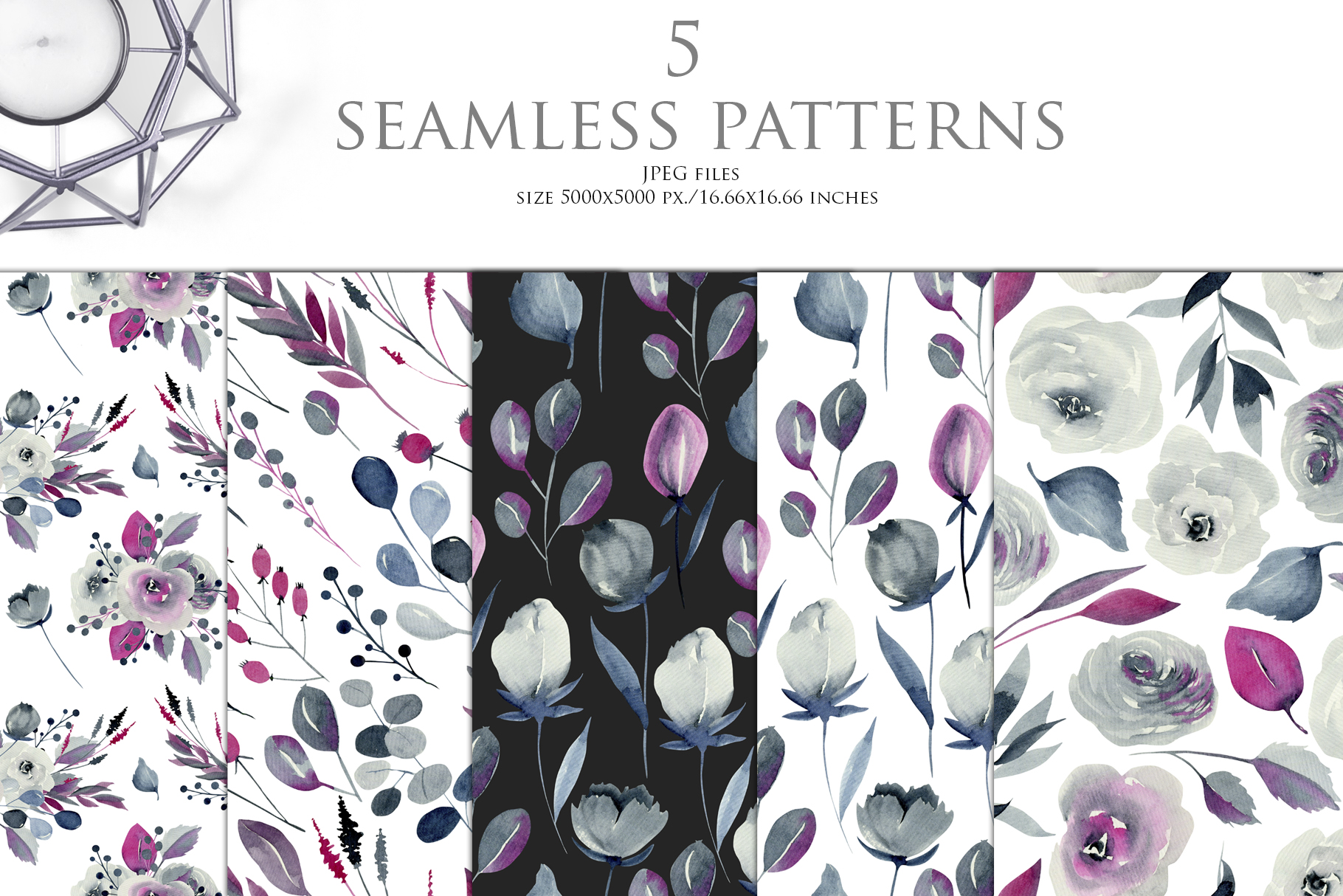 Georgia. Indigo flowers & patterns. example image 3