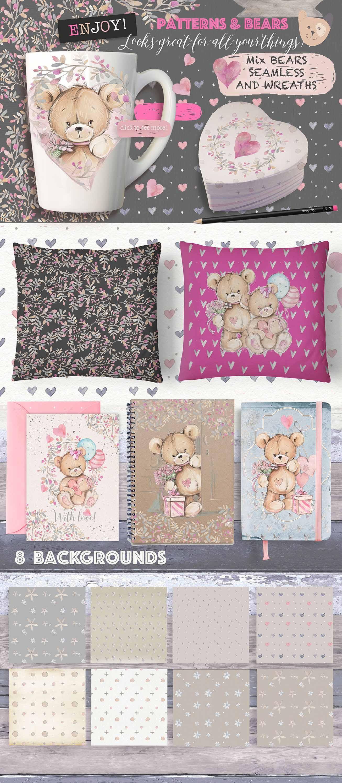 CUTE TEDDY BEARS 2 in 1packs example image 3