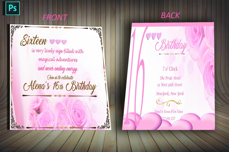 birthday invitation card example image 2