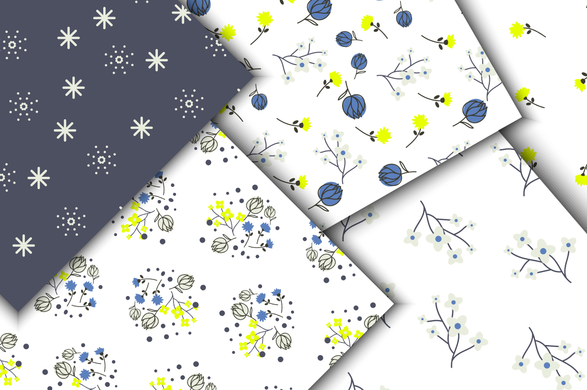 Blue Meadow Floral Patterns example image 2